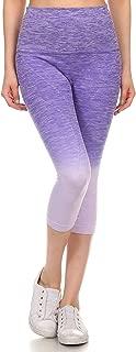Women's Athletic Space Dye Ombre Capri Leggings
