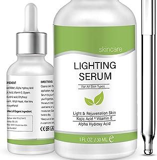 Lightening Serum with Kojic Acid,Natural Skin Lightener Whitening Serum Dark Spot..