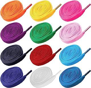 12 Pares de Cordones Cordones de Cordones Cuerdas Plano de reemplazo para Calzado Deportivo Zapatillas de Deporte Patines - Colores Surtidos