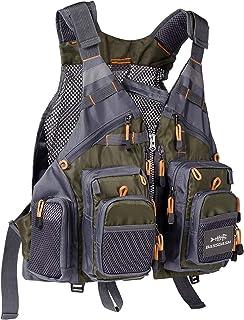 Bassdash Fly Fishing Vest Multi Pocket Waistcoat Adjustable Size Gifts for Men Women