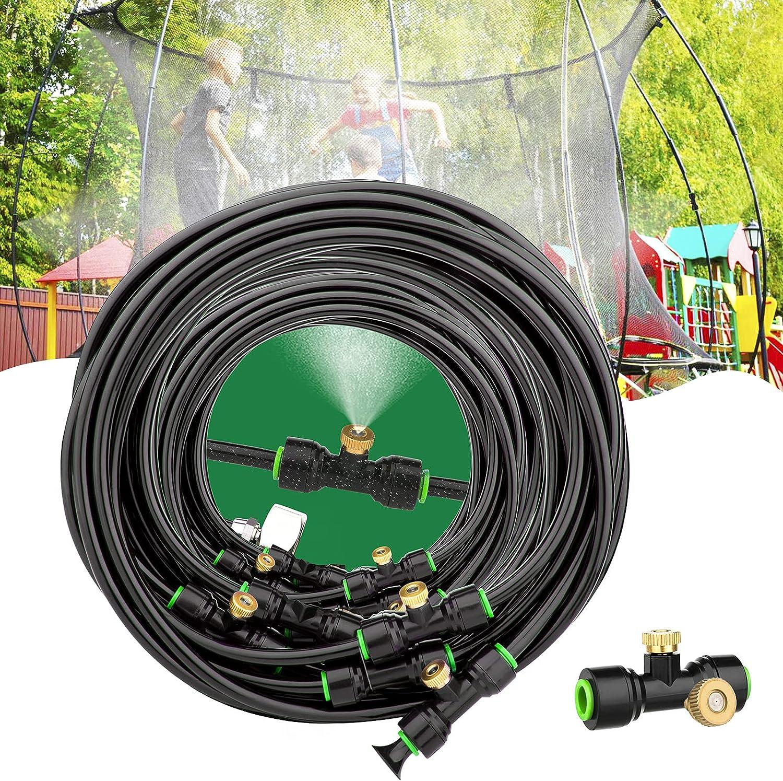 Aimego Outdoor Mist Cooling System, Mister for Outside Patio - Water Misting System for Cooling Porch Garden Yard Trampoline Backyard