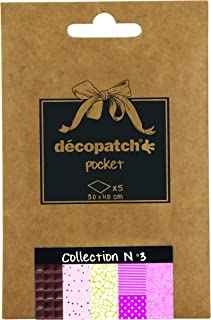 Decopatch Decoupage Printed Paper 5 Sheet Pocket Collection #3