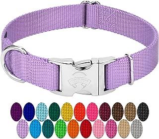 dog collar with alu max buckle