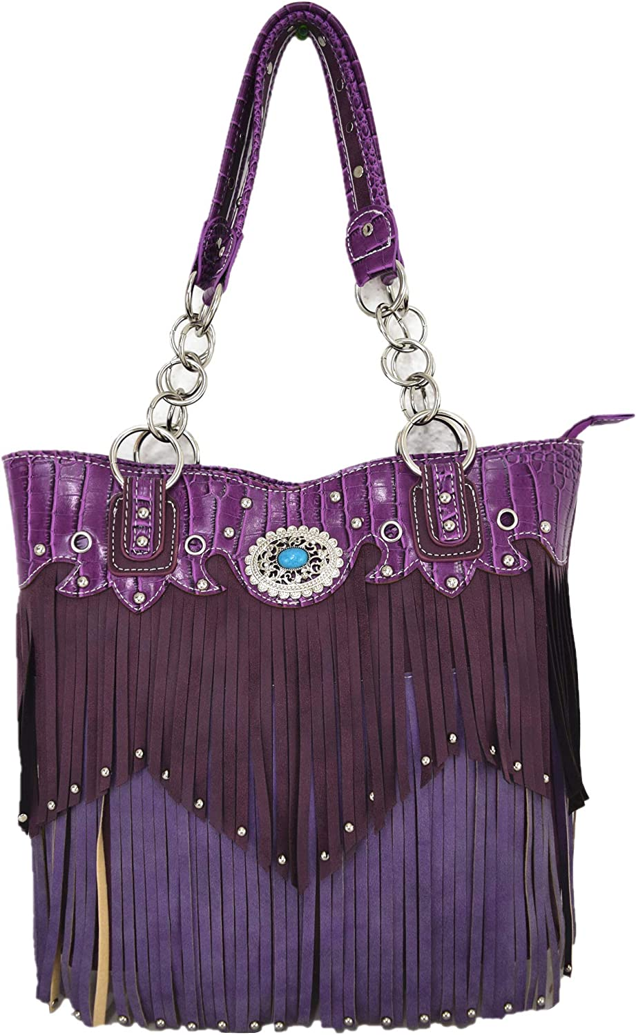 Western Style Fringe Handbag Concealed Large Daily bargain sale Purse Carry Las Vegas Mall Country