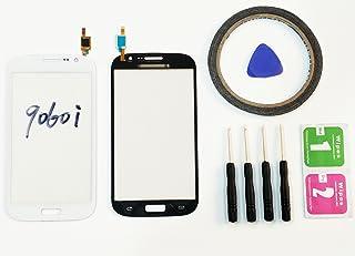 JRLinco ParaSamsung Galaxy Grand Neo 9060i FlexPantalla de Cristal Táctil, Pieza de Recambio touchscreen glass display(Sin LCD)ParaBlanco+ Herramientas y Adhesivo de Doble Cara + Paquete de Limpieza