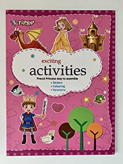Travel Travelling Activity Coloring Sticker Book Kids Toy Children Boy Girl Sister Brother Dressing Dress Up Princess Prin...