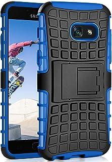 MoEx Caso del Tanque para Samsung Galaxy A5 (2017) | Caso al Aire Libre con protección de Doble Capa | Bolsa de protección Celular OneFlow | De Vuelta en la Cubierta Azul