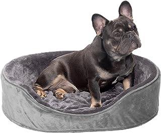 سرير الحيوانات الأليفة على شكل عش من الإسفنج المخملي المخملي بتصميم بيضاوي الشكل من Furhaven Pet Dog Bed من Furhaven Pet D...