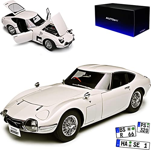AUTOart Toyota 2000 GT Coupe Weißs 1965 1967-1970 78754 1 18 Modell Auto