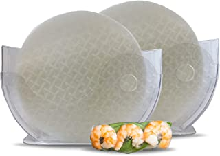 Rice Paper and Water Bowl Holder (2 Pack) Holds Up To 27cm Rice Paper for making Fresh Spring Rolls (Rice Paper Not Included)