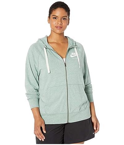 Nike Plus Size Gym Vintage Full Zip Extended Hoodie (Silver Pine/Sail) Women