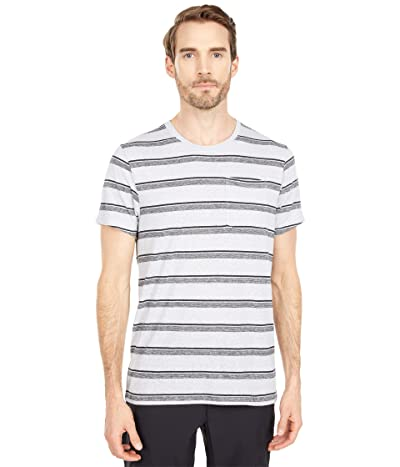 Prana Elias Short Sleeve Crew (Silver Spray) Men