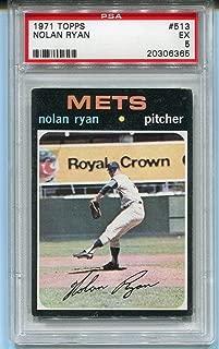 1971 Topps Nolan Ryan #513 PSA 5 EX Baseball Trading Card New York Mets