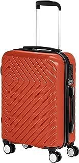 AmazonBasics Geometric Luggage 18-inch International Carry-on, Red