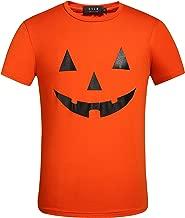 SSLR Men's Funny Pumpkins Tee Casual Short Sleeve Halloween T-Shirt