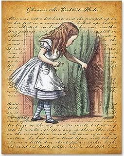 Alice in Wonderland- Giant Alice - 11x14 Unframed Alice in Wonderland Print - Makes a Great Gift Under $15 for Disney Fans or Girl's Room