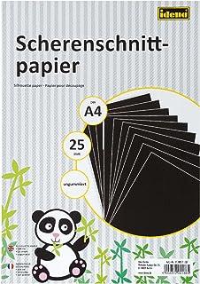 Idena 610051 – papier do cięcia DIN A4, 25 arkuszy, bez powłoki, FSC