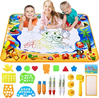 HOWADE Water Doodle Mat, Large Magic Water Drawing Mat Toy Boys Girls Kids Painting Writing Pad Educational Learning Toys ...