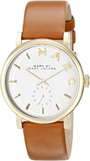 Marc by Marc Jacobs Baker Women's White Dial Leather Band Watch - MBM1316