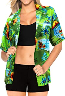 Women Plus Size Outwear Regular Fit Hawaiian Shirts for Women Printed B