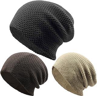 American Trends Unisex Stripe Winter Beanie Slouchy Men Women Stretch Headwear Ski Skull Ruffle Hat Beanies Baggy Cap