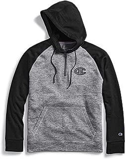 Mens Stadium Fleece Quarter Zip Hoodie Clear Gloss C Logo (S4534G 550319)