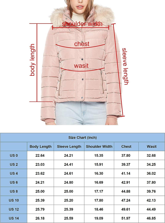 Royal Matrix Women's Hooded Puffer Jacket Short Winter Puffer Coat Full Zip Warm Thickened Coat