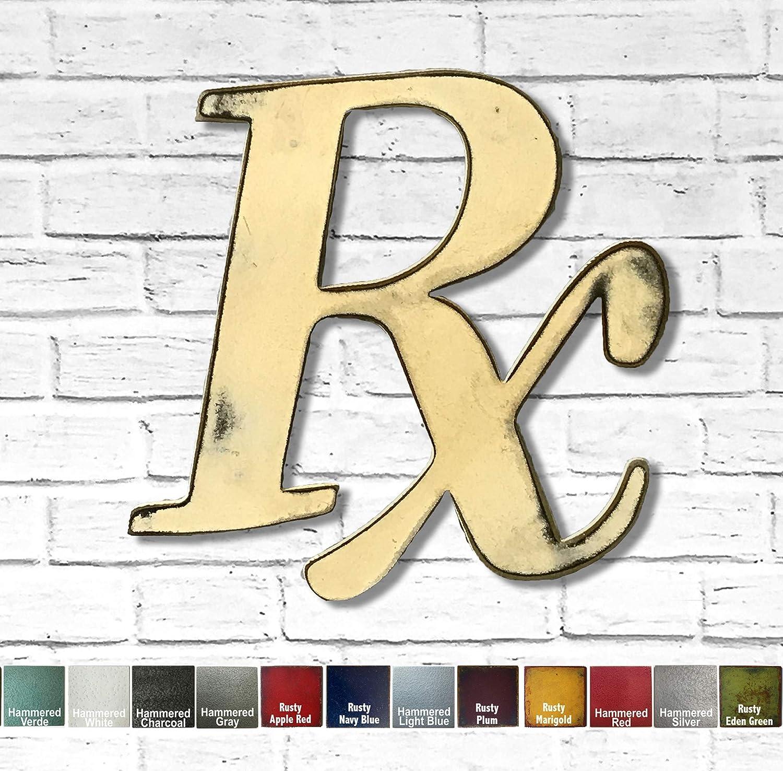 Rx Pharmacy Max 52% OFF Symbol Sign Financial sales sale - Metal Art Home Wall Decor -Handmade