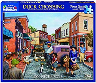 White Mountain Puzzles Duck Crossing Jigsaw Puzzle- 1000 Piece Jigsaw Puzzle