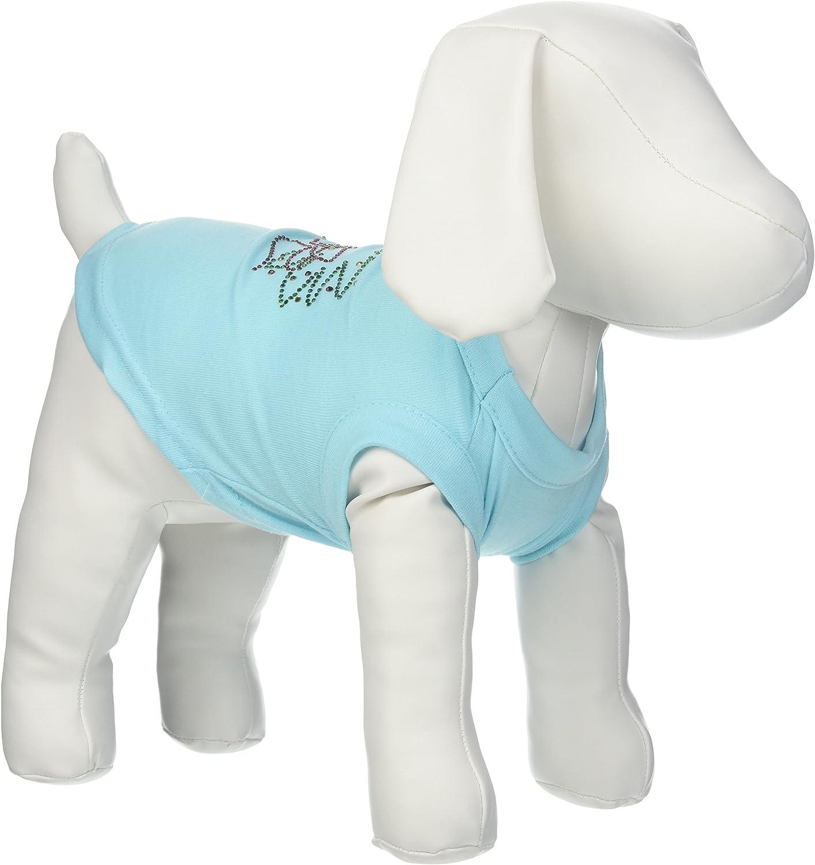 Mirage Pet Products 10Inch Christmas Wreath Rhinestone Print Shirt for Pets, Small, Aqua