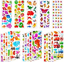 SAVITA 3D Stickers for Kids & Toddlers 900+ Puffy Stickers Variety Pack for Scrapbooking Bullet Journal Including Dinosaur, Cartoon Dinosaur, Animal, Fish, Butterfly, Numbers, ABC, Fruit, Car