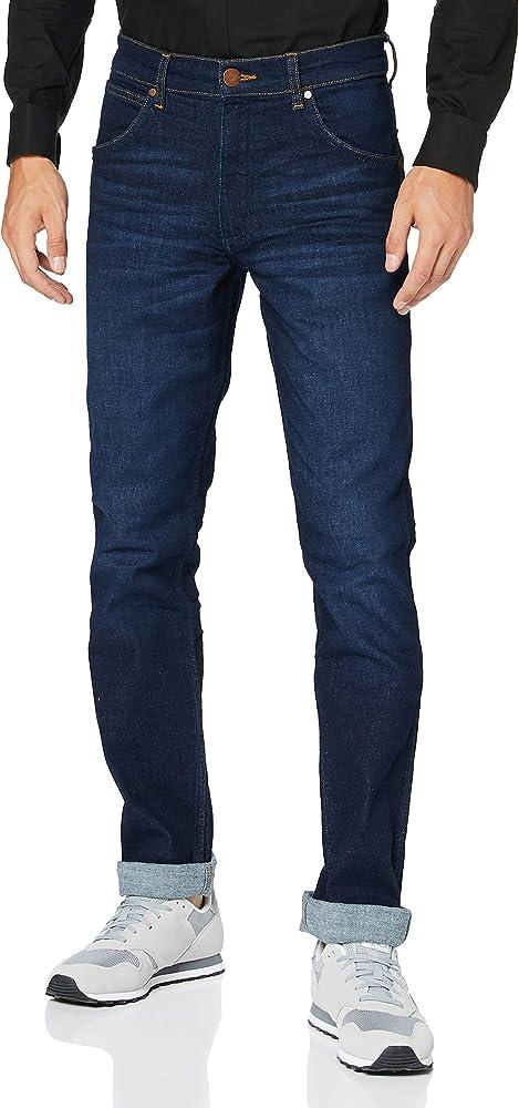 Wrangler greensboro, jeans straight uomo,in 91% cotone, 7% poliestere, 2% elastan W15QQ892G