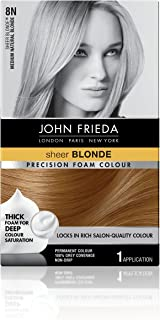 John Frieda Precision Foam Permanent Hair Colour in 8N Medium Natural Blonde