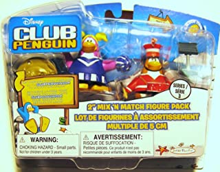 Disney Club Penguin Series 3 Mix 'N Match Mini Figure Pack Marching Band and Cheerleader (Includes Coin with Code!)