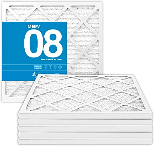 MervFilters 14x25x1 Air Filter, MERV 8, MPR 600, AC Furnace Air Filter, 6 Pack
