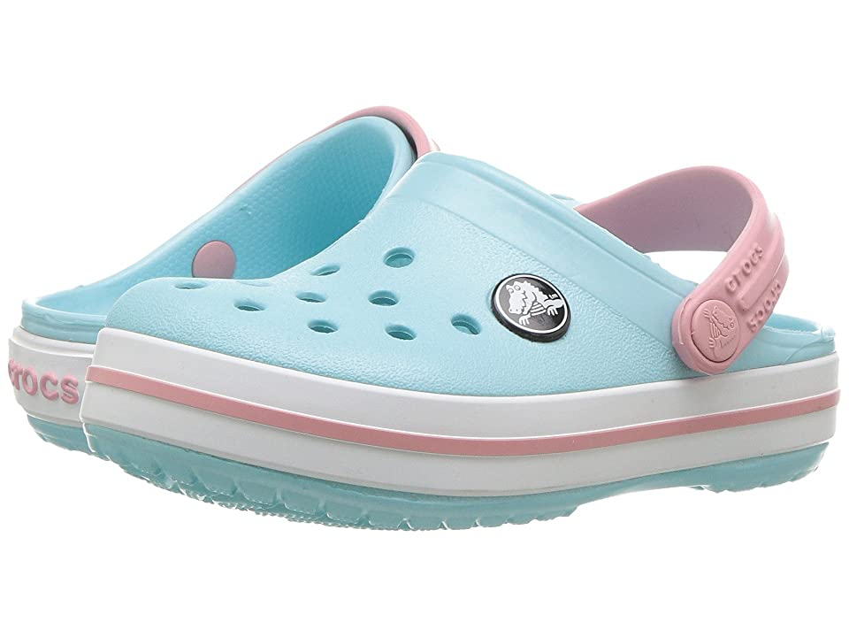 Crocs Kids Crocband Clog (Toddler/Little Kid) (Ice Blue/White) Kids Shoes