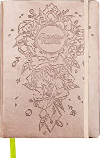 """Passion Planner Pro Dated Jan-Dec 2019 - Goal Oriented Daily Agenda, Appointment Calendar, Reflection Journal - (B5 7"""" x 10"""") Monday Start (Radiant Rose Gold)"""