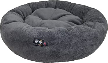 Ultra Plush Deluxe Comfort Pet Dog & Cat Grey Snuggle Bed (Multiple Sizes) - Machine Washable, Made in the USA, Reversible, Durable Soft Fabrics