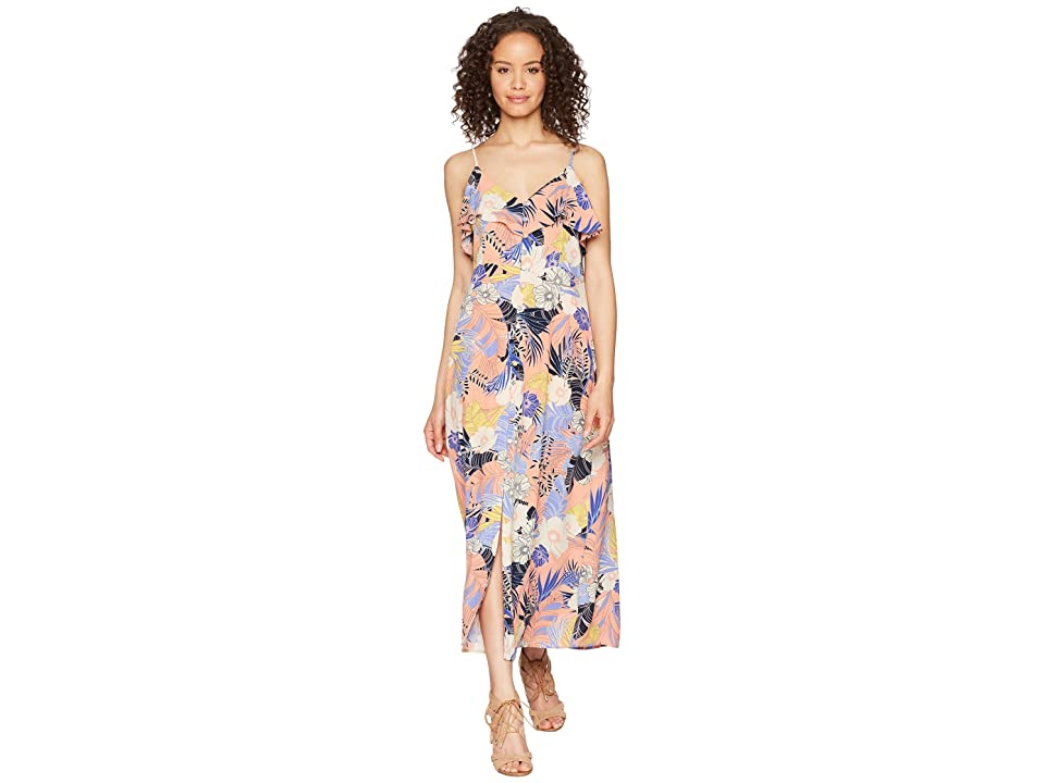 Sanctuary Isabella Button Down Maxi Dress (Papaya Love) Women