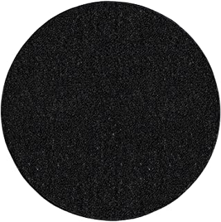 Ambiant Saturn Collection Kids Favourite Indoor Outdoor Area Rugs Black - 6' Round