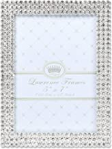 Lawrence Frames 5x7 Juliet Silver Metal Crystals Picture Frame