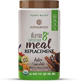 Sunwarrior - Illumin8 Plant-Based Superfood Meal Replacement, Organic, Vegan, Non-GMO (Aztec Chocolate, 20 Servings)