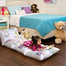 MIZONE MZK21-097 Mi-Zone Wise Wendy Lounger Kids, Inflatable Air Bed Mattress Or Bean Bag Chair Alternative Floor Pillow, 26 X 100, 26x100, Caterpillow Cover-Pink