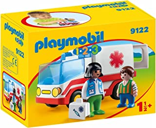 PLAYMOBIL 1.2.3- Ambulancia, única (9122