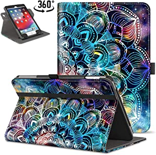 VORI iPad 9.7 2018 2017 / iPad Air 2 / iPad Air Case, [360 Degree Rotating] Leather Folio Stand Case Smart Protective Cover with Auto Wake/Sleep, Mandala