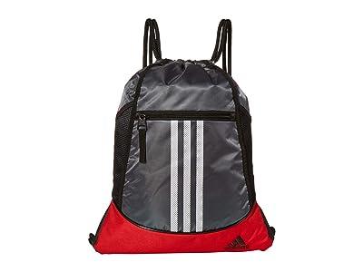 adidas Alliance II Sackpack (Scarlet/Grey Six/White/Black) Backpack Bags