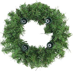 Northlight Two-Tone Pine Artificial Christmas Advent Wreath, Green