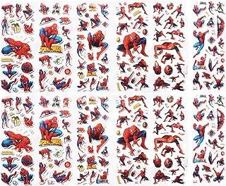 Autocollant éponge Spiderman, Enfants Stickers 6 Feuilles Autocollant, Enfant Récompenser Scrapbooking