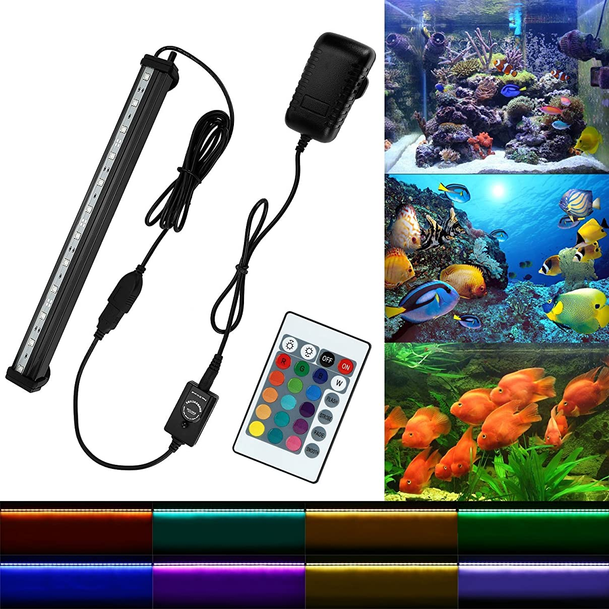 素子有効なストローEtelux LED水槽ライト気泡 水中アクアリュムランプ 水槽用照明 装飾 観賞魚 熱帯魚 酸素補給 高輝度 省エネ (12LED)