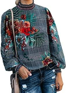 Long Sleeve Chiffon Blouse Women's Loose Cuffed Sleeve Layered Tops